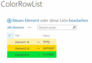 Highlight rows in list with CSR (de)_1