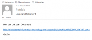 Send link of document via mail  (de)_4