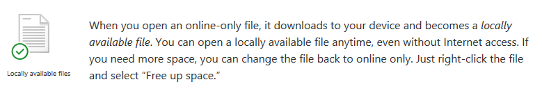Locally available files