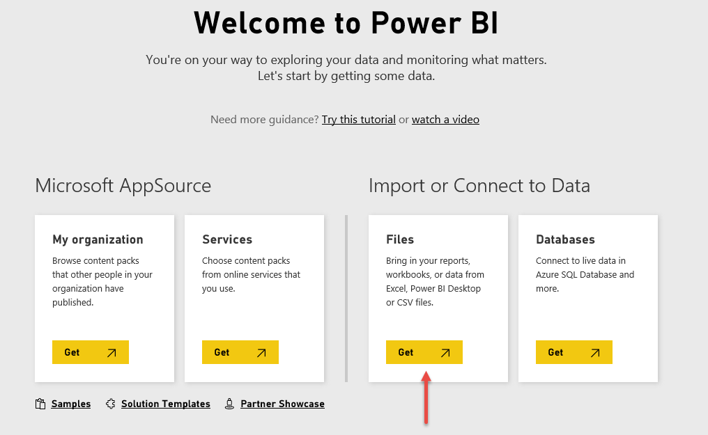 How to get files in Power BI