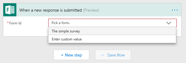 Select your form in Flow