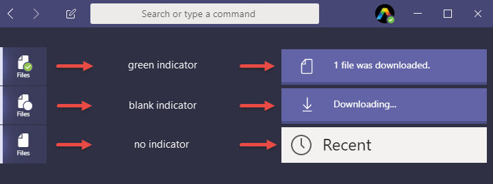 Files indicator explained