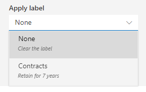 Assign a label to a file in OneDrive