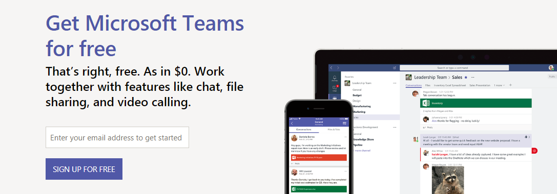 Microsoft Teams for free