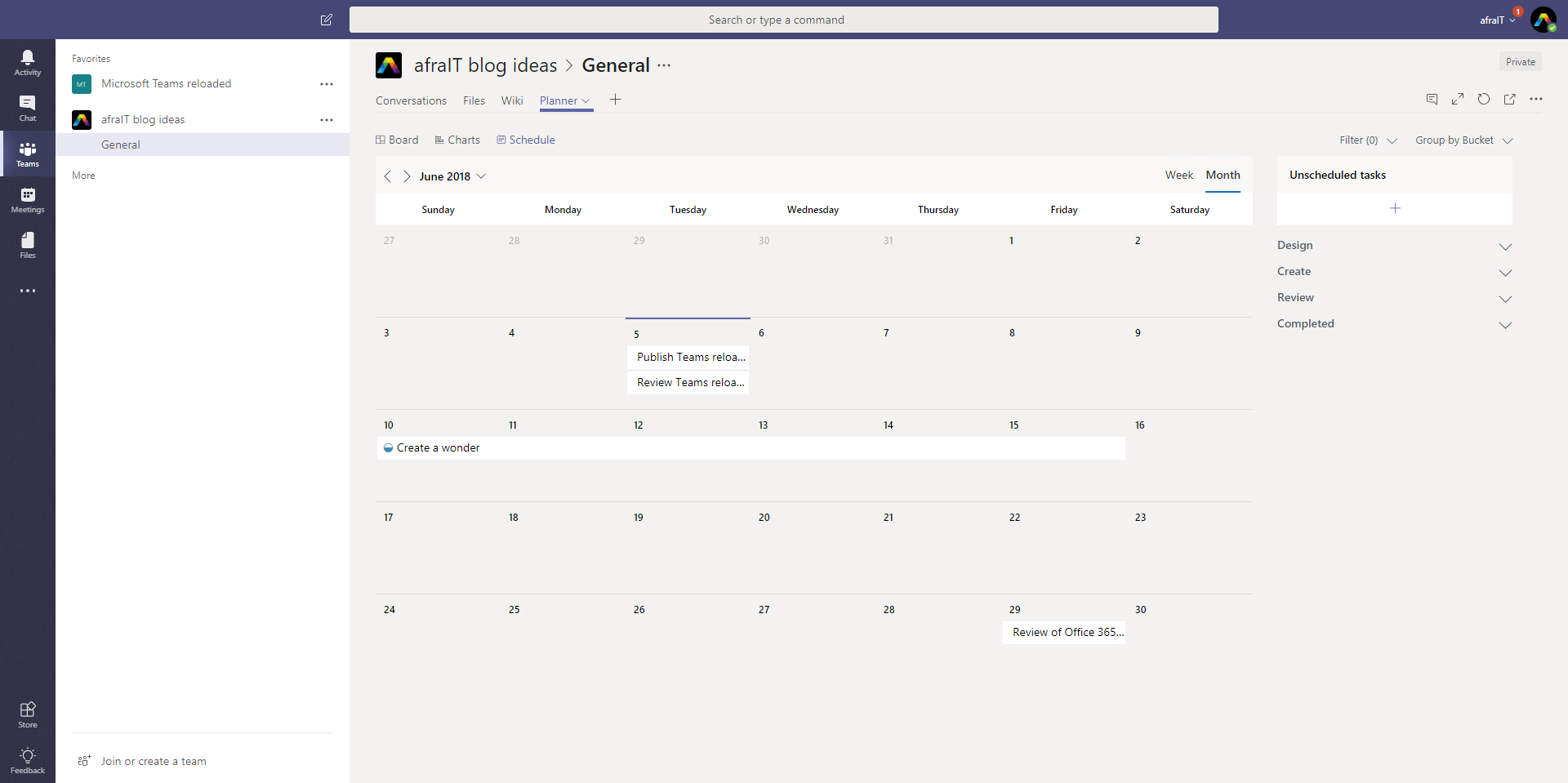 Schedule view: get an overview of upcoming tasks and drag and drop them to set dates