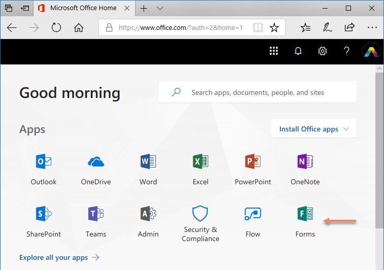 Mastering common challenges in Office 365 Part 7 Forms - Forms App Launcher