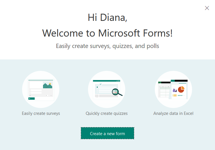 Welcome to Microsoft Forms