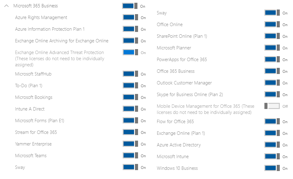 Microsoft 365 Business - All services