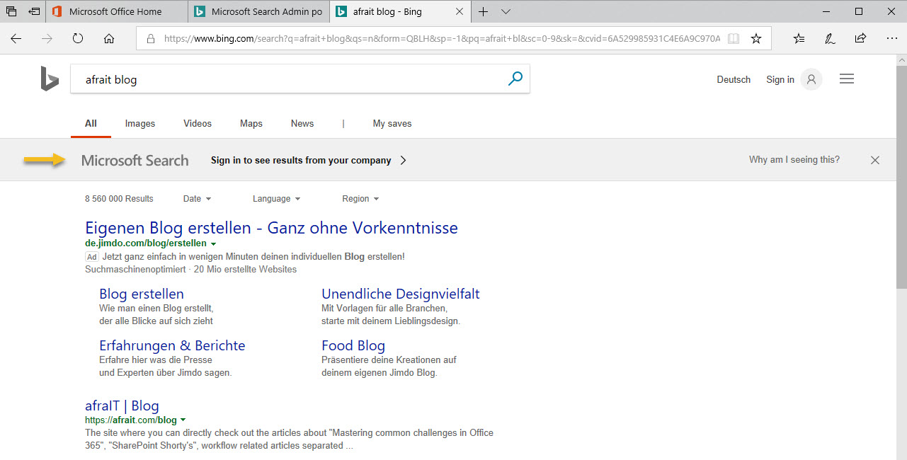 Search with Bing.com