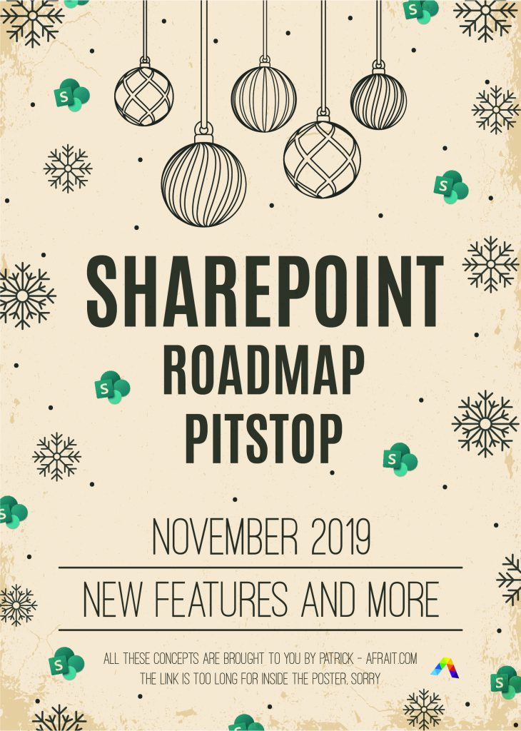 SharePoint Roadmap Pitstop November 2019 - Patrick by afraIT