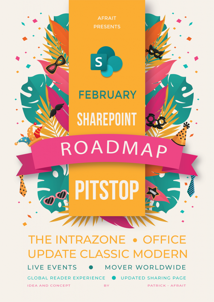 SharePoint Roadmap Pitstop Poster February 2020
